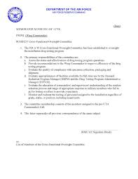 aw drug prevention and education forum sample appointment letters cross functional