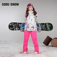 The <b>new Gsou snow</b> double single ski suit female suit <b>winter</b>