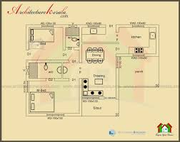 BELOW SQUARE FEET HOUSE PLAN AND ELEVATION   ARCHITECTURE KERALAFloor plan