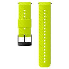 Lime 24mm <b>silicone</b> Suunto <b>watch strap for</b> active training