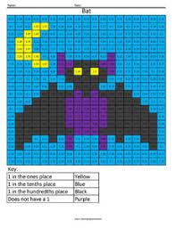 Decimal Coloring – Coloring SquaredBat Free Decimal Worksheet ...
