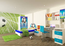 marvellous children boy bedroom remodel ideas with soccer themed decors and fancy white blue twin bed agreeable furniture bedroomravishing blue office chair related