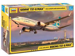 Сборная модель Zvezda Пассажирский авиалайнер Боинг 737-8 ...