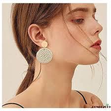 H-C  Woven <b>Rattan Earrings for Women</b> Boho Style | Shopee ...