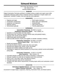 resume sample for automotive service technician   cv writing servicesresume sample for automotive service technician the best sample automotive technician resume automotive technician resume examples