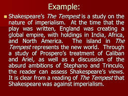 the tempest essay introduction   essay topicsexample shakespeare  s the tempest is a study on nature of imperialism at