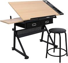 ZENY Height Adjustable Drafting Draft Desk Drawing ... - Amazon.com