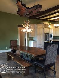 slab dining table modern rustic a