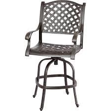 patio stool: darlee nassau patio swivel bar stool antique bronze