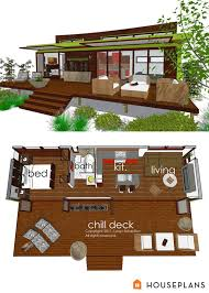 ideas about Modern Tiny House on Pinterest   Tiny Houses    GREEN PLANS  TINY HOUSE floorplans tiny modern cottage home plan sft houseplans com