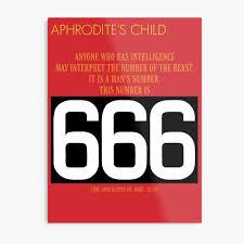 """<b>Aphrodite's Child</b> - <b>666</b>"" Metal Print by Garblesnatcher | Redbubble"