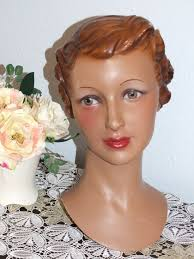 Details about VINTAGE <b>MANNEQUIN HEAD</b> ART DECO <b>LADY</b> ...
