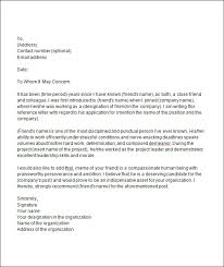 sample college recommendation letter  documents in word pdf college recommendation letter from a friend