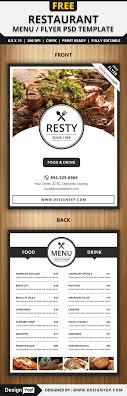 restaurant menu flyer psd template designyep restaurant menu flyer psd template
