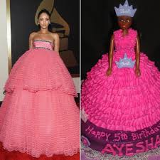 Rihanna's Voluminous Pink Grammys Gown Draws Memes | Orzzzz via Relatably.com