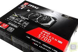 Обзор <b>видеокарты MSI Radeon RX</b> 5700 Mech GP OC