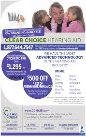 clear choice hearing aid services ads from san diego union tribune ads for clear choice in san diego ca