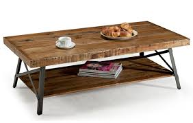 Iron Coffee Tables Rustic Industrial Reclaimed Wood Iron Accent End Table