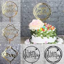 Happy Birthday <b>Love Cake Topper</b> Acrylic Letter Top <b>Flag Wedding</b> ...