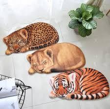 <b>New High quality handmade</b> Lion Tiger shape washable carpet ...