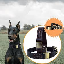 <b>Cowhide Genuine</b> Leather Pet Dog Collars <b>Top</b> Quality <b>Top Grade</b> ...