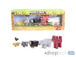 Конструктор <b>Игровой набор Minecraft Фигурки</b> животных 7 шт ...