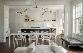 washington street 2 inspiration for a contemporary great room remodel in san francisco with white walls ceiling dining room lights photo 2