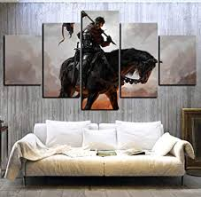 yisanwu 5 Piece Hd Digital Art Kinght Pictures ... - Amazon.com