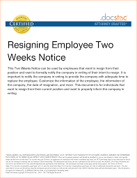 11 2 weeks notice example basic job appication letter notice letter example resignation letter sample 2 weeks notice two 2