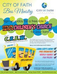 city of faith church in houston texas has launched its bus city of faith church in houston texas has launched its bus ministry we are