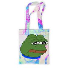 <b>Сумка с полной</b> запечаткой Pepe Frog #2032659 от Jimmy Flash