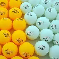 30 50 <b>100 Pcs 3</b> Star 40mm 2.9g White Orange Pingpong Ball ...