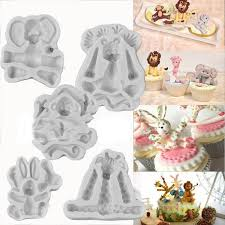 <b>mayitr</b>  <b>3D</b> Animal Models Mould Fondant Chocolate Cake Silicone ...