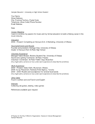 doc 10181477 high school student cv basic high school resume basic resume sample for college students resume