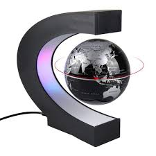 <b>C Shape</b> Magnetic Levitation Floating Globe World Map with <b>LED</b> ...