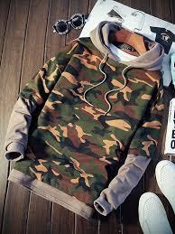 <b>Camouflage</b> Color <b>Block Men Hoodie</b> #Color #AFFILIATE ...