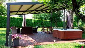 Selfsupporting Pergola  Aluminum PVC Fabric Sliding Canopy SINTESI AUTOPORTANTE FRAMA ACTION  N
