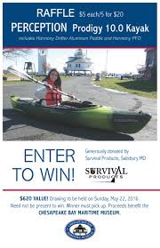 kayak raffle draws 22 2016 at cbmm in st michaels md kayak raffle sign