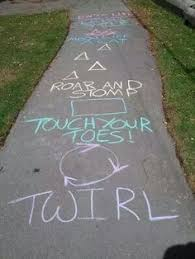 sidewalk chalk game for kids could adapt for outside music lesson calm casa kids
