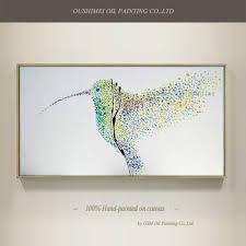 High Skills Artist Pure <b>Hand painted Fashion</b> Design Bird Oil ...