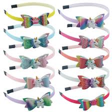 <b>1 PC</b> Children Novelty Plastic Hairbands <b>Glitter Sequins</b> Headband ...