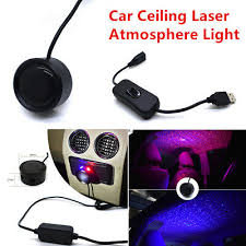 <b>1Set</b> Car Ceiling Star <b>Light</b> LED <b>Atmosphere</b> Projector Armrest Box ...