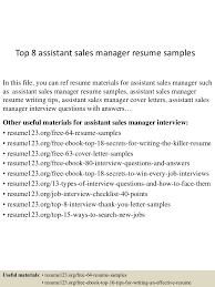 top8assistant smanagerresumesamples 150424022622 conversion gate02 thumbnail 4 jpg cb 1429860430