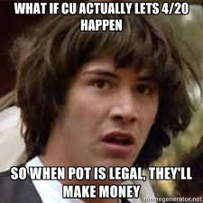 4/20 at CU Boulder memes: Will Wyclef Jean hot box the Coors ... via Relatably.com