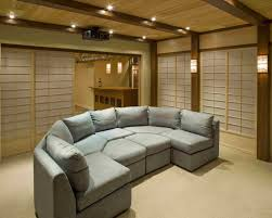themed family rooms interior home theater: japanese theme entire basement middot japanese theme theater rear view middot home theater