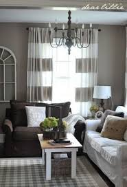 perfect grayish walls and cute curtains to go with my chocolate brown couch wall color brown furniture wall color