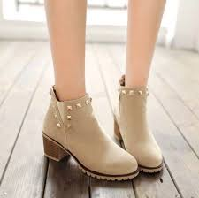 <b>Fashion</b> Sweet <b>Style</b> Women's Cheslea Boots Scrub Duantong ...