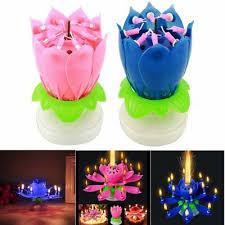 1/10/<b>50</b>/<b>100Pcs</b> Lot Flower Birthday Party Blossom Lotus Musical ...