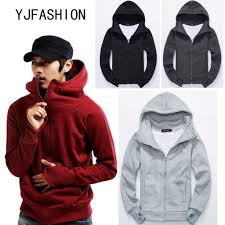 Yjfashion&#IN stock !Men's Fleece Hoodie Thickened Sleeve Cotton ...