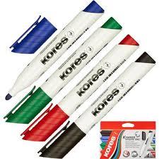 <b>Набор</b> маркеров для досок Kores 20843 <b>4</b> цвета (толщина линии ...